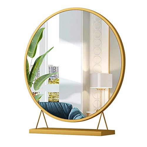 Dressing Mirror Miroir De Maquillage De Bureau HD Miroir Rond Simple De Ménage Miroir De Maquillage Mode De Bureau Coiffeuse Ronde Petit Miroir (Size : 40x10x44cm)