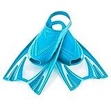 Aqua Speed - Frog Aletas Cortas para niños | Unisex | Niñas | Niños | Aletas de Entrenamiento | Entrenamiento de natación | Aletas Cortas | Aletas de Buceo, Color:Azul, Tamaño:30-34 (M)