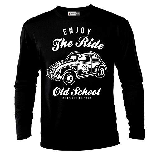 Enjoy The Ride Vintage Hot Rockabilly Car Auto shirt met lange mouwen longsleeve T-shirt