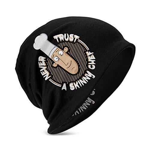 Hdadwy Kid\'s Beanie Caps Vertrauen Niemals einem Skinny Chef Slouch Skull Cap Warme Strickmützen für Mädchen Jungen Schwarz