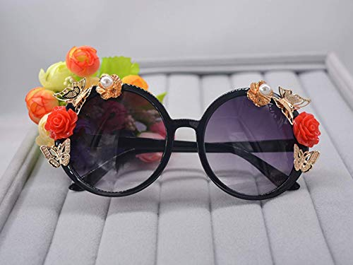 AQWESD Gafas de Ciclismo, Gafas de Sol Moda Elegancia clásica Rosa roja...