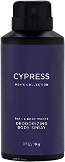 Bath & Body Works Cypress for Men deodorizing Body Spray, 3.7 Ounce