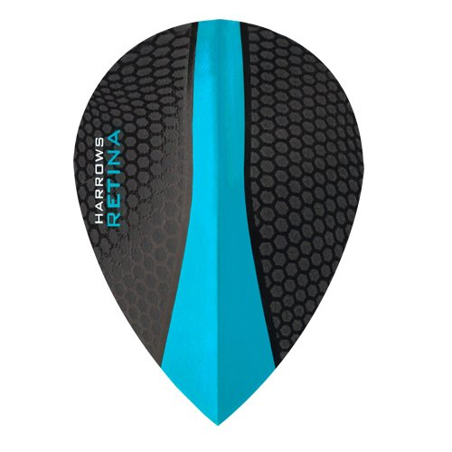 HARROWS Retina Dart Flights – 5 sets (15) – 100 micron Extra Stark – Pear – Blau