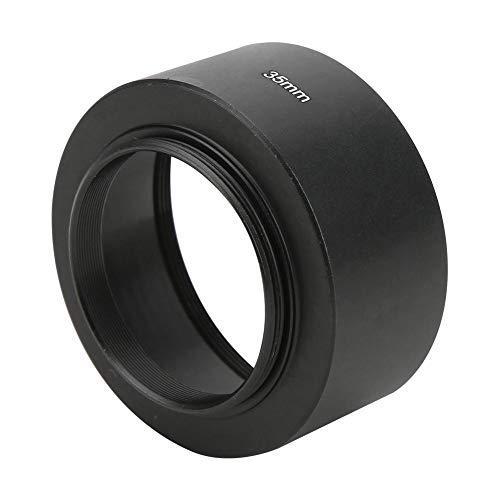 Topiky Paraluce per Obiettivo CCTV 35mm f1.7/50mm f1.4, Attacco filettato Len Hood in Lega di Alluminio 35mm/1.4in(Nero)