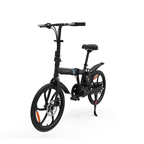 Smartgyro Ebike City, Bicicletta Elettrica Unisex – Adulto, Nero, M