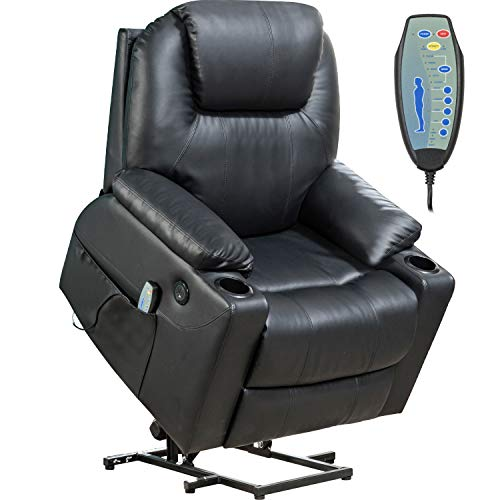 Lift Chair for Elderly Power Recliner Massage Chair Lift Chair Recliner Electric Recliner Wall Hugger Recliner Chair (Black)