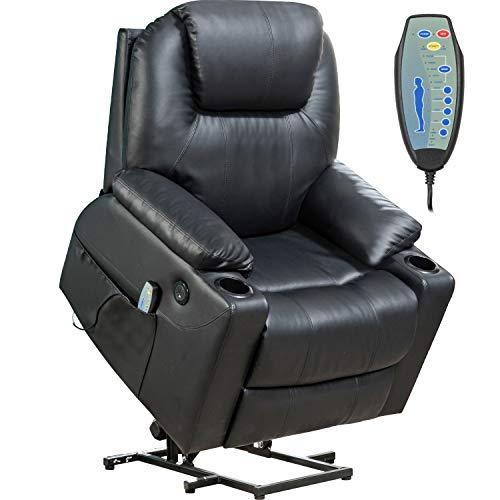 Lift Chair for Elderly Power Recliner Massage Chair Lift Chair Recliner Electric Recliner Wall Hugger Recliner Chair (Black)