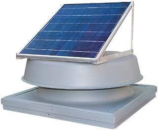 Solar Attic Fan Roof Mount - Curb Mount - 24 watt + Free Thermostat