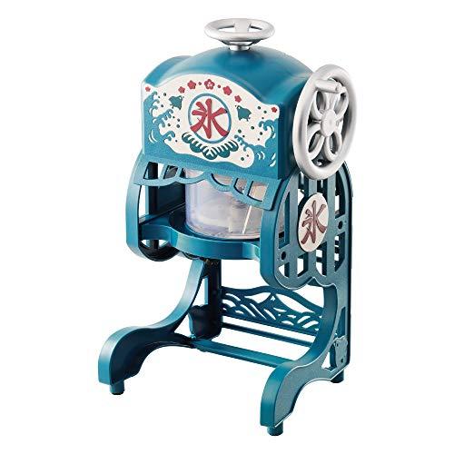 ドウシシャ 電動本格かき氷器 ふわふわ 製氷カップ2個付き ブルー