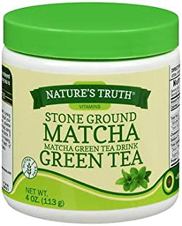 Nature's Truth Stone Ground Matcha Green Tea Drink - 4 oz, Pack of 2