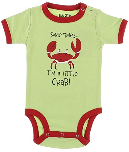 LazyOne Garçon I'm little Crabby Body Bebe Vest 18 Months