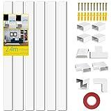 Kit Gaine de Câble Cache Câble Kit de Gestion de Câbles pour Stockage Câbles Electriques Couvercle de Câble pour Bureau Maison - 6XL240mm, L30mm A15mm