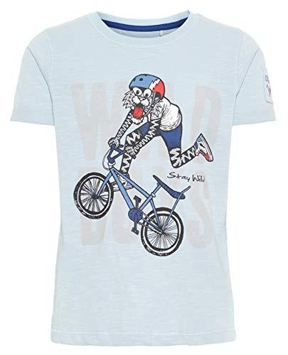 NAME IT - Camiseta para niño (algodón ecológico) Azul/Blu