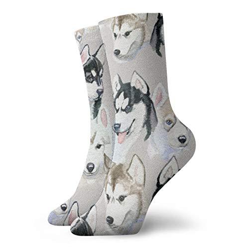 Calcetines lindos del perro de las mujeres y los hombres calcetines del calcetín del fútbol del deporte del tubo de las medias