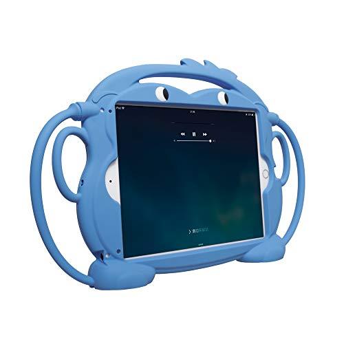 CHIN FAI Funda para Nuevo iPad 2017/2018 para Niños Cubierta Protectora de Silicona para iPad Tabletas de 9.7 Pulgadas 5th / 6th / Pro/Air / Air2 Mango a Prueba de Golpes Serie de Monos de Dos Caras