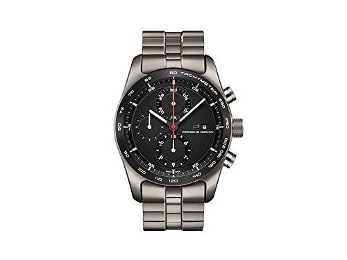 Porsche Design Chronotimer Series 1 Automatik Uhr, Poliertes Titan, Schwarz