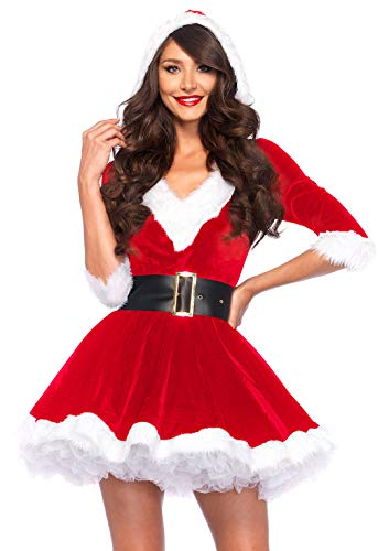Leg Avenue Women's 2 Pieces Mrs. Claus Costume, Red/White,Medium/Large