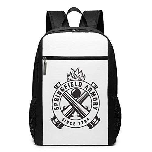 Mochila Mochila de Viaje Springfield Armory Since 1794 Backpack Laptop Backpack School Bag Travel Backpack 17 Inch