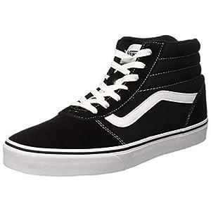 Vans' Women's Ward Hi Lace Up Sneaker Blk/Wht 9 Medium US
