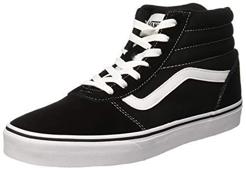 Vans Damen Ward Hi Hohe Sneaker, Schwarz ((Suede/Canvas) Black/White Iju), 39 EU