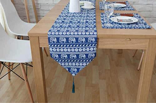 Squisito runner da tavolo Inicio Camino de mesa Mantel algodón de lino...