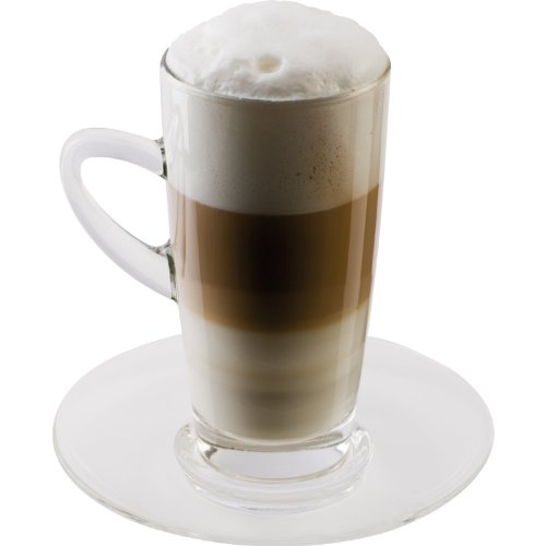 Scanpart - Set 2 Tazze per Latte Macchiato, in Vetro
