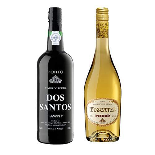 Pinord Pack 2 Botellas Vinos Postre: Moscatell + Porto Dos Santos Tawny - 1500 ml