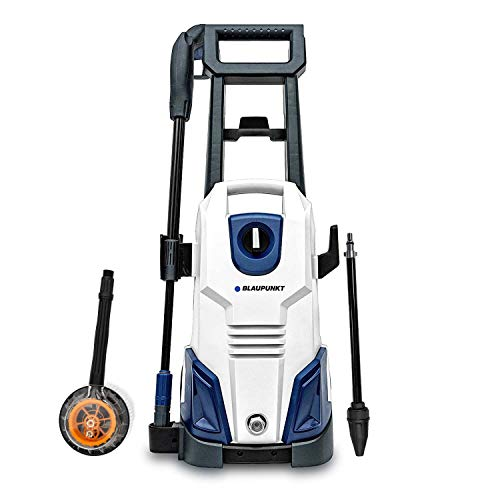 Blaupunkt Pressure Washer PW4000-135 bar 7.5L/min Flow - 1800W High Power AC Electric Motor - Long 8m Hose - with Hi/Lo Pressure Nozzle and Turbo Nozzle - Detergent Tank - Rotary Cleaning Brush
