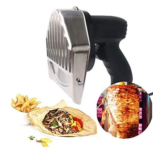 HYDDG Professionelles elektrisches Kebabmesser Elektrisches Kreiselmesser 80w Handgrill-Handschneider mit Einstellbarer Intensität