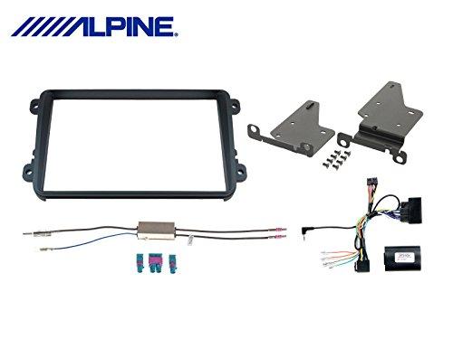 Alpine KIT-8VWT - Doppel-DIN Einbauset speziell für Alpine INE-W928R für Seat / Skoda / Volkswagen