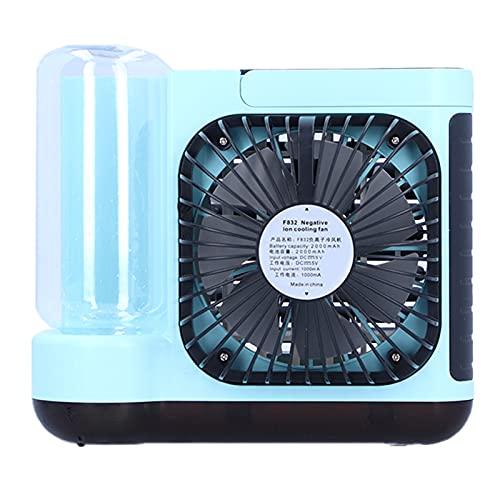 PBOHUZ Ventilador de refrigeración - Enfriador de Aire de Iones Negativos Mini Aire Acondicionado de Escritorio Ventilador de refrigeración por Agua Carga USB