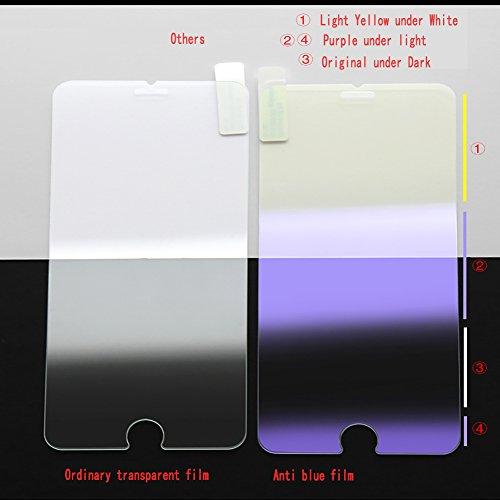 Protector de pantalla Desita vidrio templado con garant/ía reemplazo de por vida Claro HD Negro Pack de 3 Protector de pantalla anti-luz azul para el iPhone 6