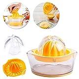 Exprimidor manual de cítricos de limón naranja con taza de medición integrada