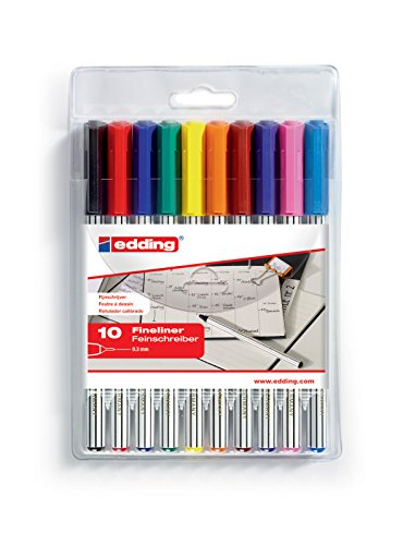 Edding 4-89-10 Fineliner 89 Office Liner EF, 0.3 mm, sortiert