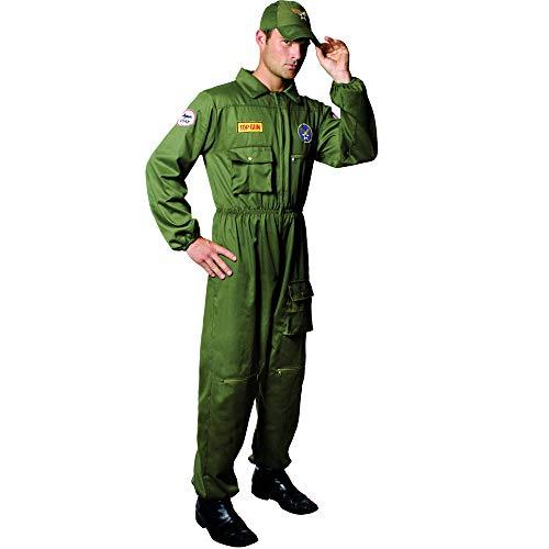 Dress Up America 556-L Luftwaffenpilot Air Force Pilot Kostüm Erwachsene (groß), (Taille: 112-122, Höhe: 168-173 cm, Schrittnaht: 79-84 cm)