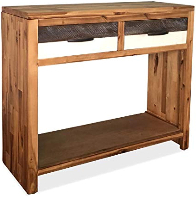 Festnight Schreibtische Konsolentisch Massivholz Akazie 86 × 30 × 75 cm