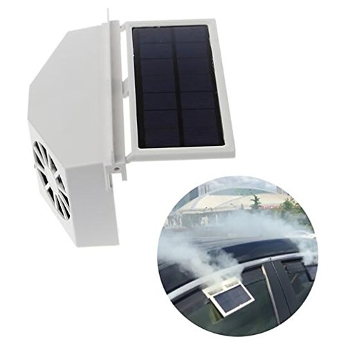 Car Heater Auto-Wieder Aufladbare Ventilationssystem-Auto-Solarenergie-Ventilator-Fenster-Ventilator-Auto-Luft Reinigen Klares Werkzeug-Luft-Entlüftungs-Cooler Abluftventilator,White