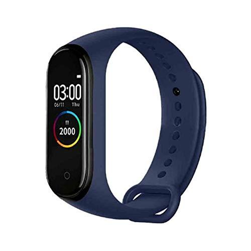 OYPY Smart Armband M4 Smartband Blutdruck Herzfrequenzmesser Fitness Tracker wasserdichte intelligente Armband-Band (Farbe : Dark Blue)