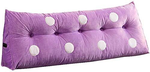 YLCJ Kussen voor dubbele bank Kussen voor dubbele kop Lumbar kussen Wasbaar, Kussen voor lang bed (kleur: A, Afmetingen: 150 20-20 50 cm)