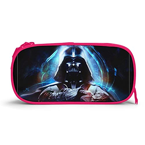 Estuche para lápices Darth Vader de gran capacidad Soporte para rotulador de bolígrafo Estuche Estuche para maquillaje Bolsa de tela Oxford Almacenamiento grande con cremallera Organizador de