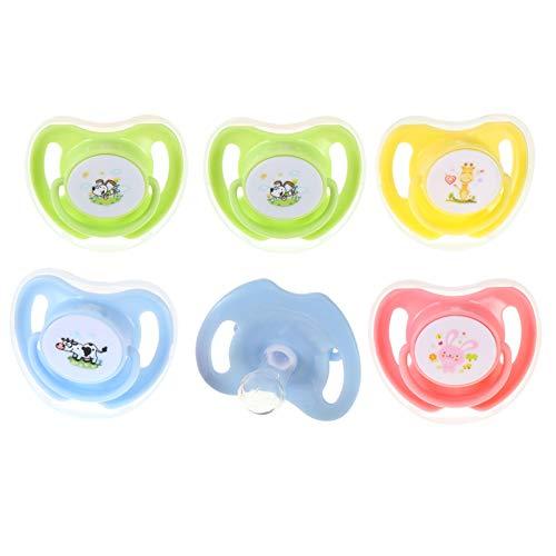 STOBOK 6Pcs Infantil Bebê Recém- Nascido Chupeta Silicone Chupeta Chupeta Infantil para As Crianças Do Bebê Presente de Ano (Multi Cor)