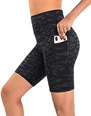 Promover Yogabroek voor dames, leggings, hoge taille, met zakken, buikcontrole, yoga, 4-weg stretch, trainingsbroek
