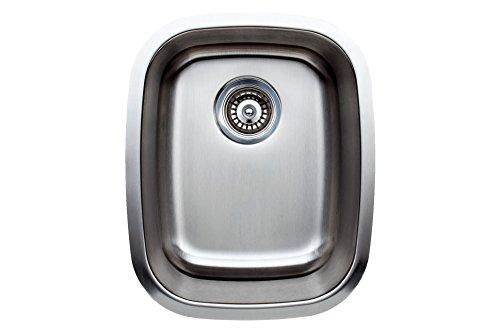 "Wells Sinkware CMU1518-7 Craftsmen Series Stainless Steel Kitchen Sink, 15""X18"", Brushed Matte Finish"