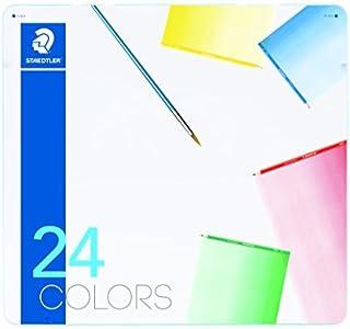 ステッドラー 色鉛筆 24色 水彩色鉛筆 ノリスクラブ メタルケース入り 145 10M24