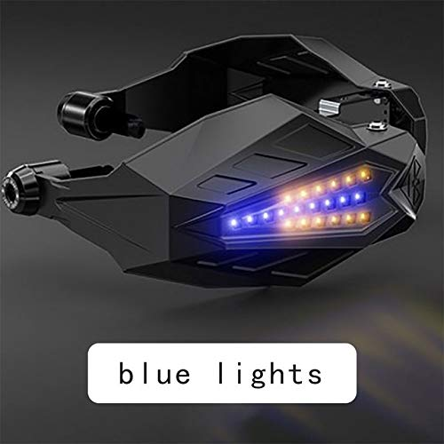 Motocicleta molduras Accesorios de Motos Aptos for la CB400 KYMCO AK Cubierta 550 Suzuki Bandit 650 Kawasaki KLX 250 Protector de la Mano del Parabrisas Guardia Palanca (Color : Blue LED)