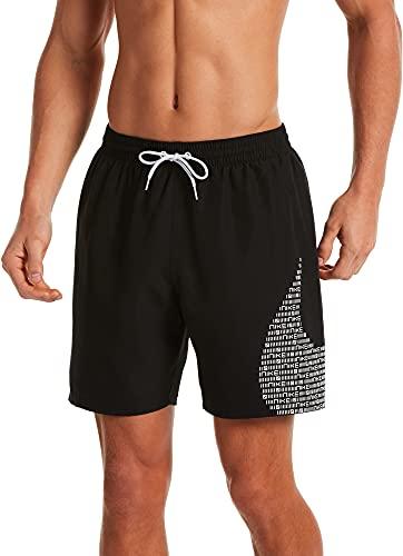 """Nike 7"""" Volley Pantaloncini da Bagno da Uomo, Uomo, Costume da Bagno, NESSA521-001, Nero, S"""