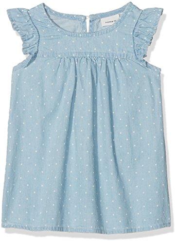 NAME IT Baby-Mädchen NBFABLINA DNM 1079 SS Dress Kleid, Blau (Light Blue Denim Light Blue Denim), 68