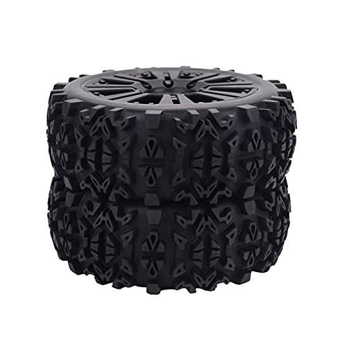 UJETML (H) Llantas de Barras 4X 1/8 RC Camión Accesorio Accesorio Tirones Rueda Rock Rock Crawler Black Ruedas y neumáticos hexagonales de 17 mm.