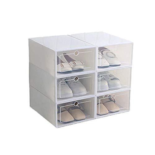 ColourQ - Caja de plástico apilable para zapatos, plegable, organizador de zapatos, cajón, con puerta transparente, 33,5 x 23,5 x 13 cm
