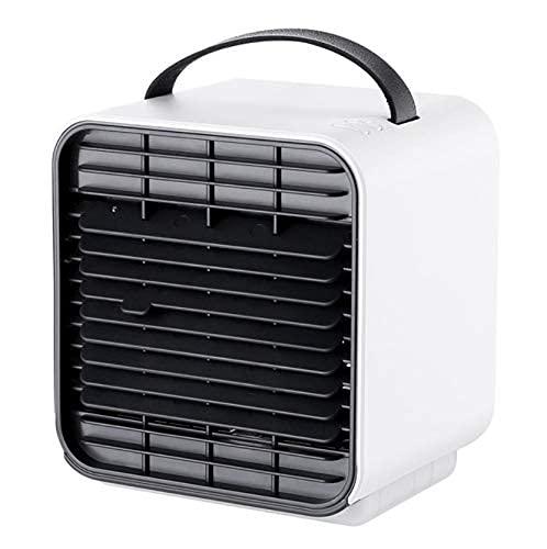 Mini Negativo Ion Air Cooler Oficina Enfriador Oficina Agua Agua Aire acondicionado Aire acondicionado Ventilador de refrigeración Humidificador de aire 5W 3 Gear 2000mAh Tamaño: 120x127x132mm / 4.7x5